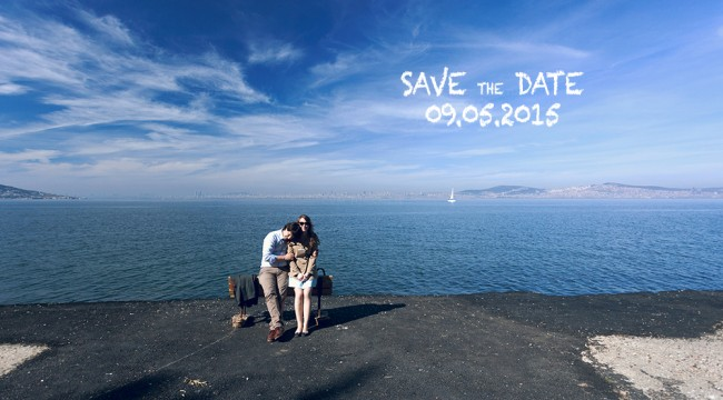Istanbul prince islands Save The Date wedding photography